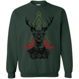 Christmas hipster deer Shirts Ugly Christmas Sweater - SunGift.Co