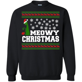 Meowy Christmas (2) T-Shirt & Hoodie Ugly Christmas Sweaters