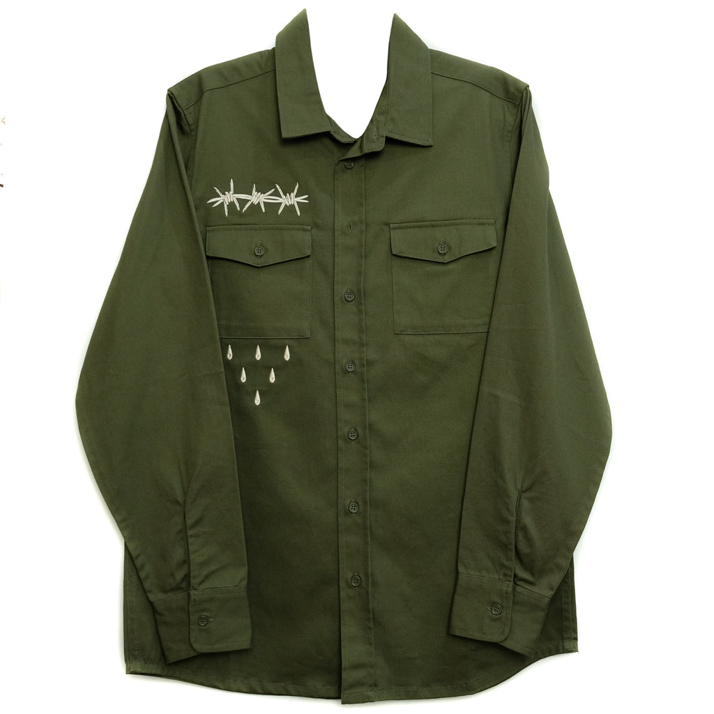 WIRE WORK SHIRT GREEN