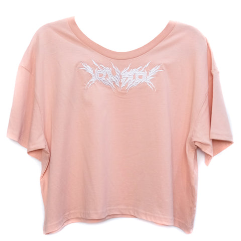 METAL CROP TOP PINK