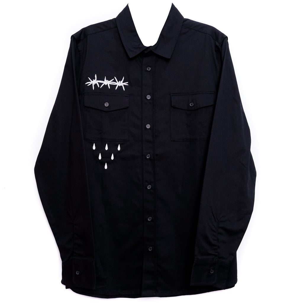 WIRE WORK SHIRT BLACK