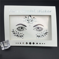 Eyebrow Face Body Art Adhesive Stickers Makeup - Free + Shipping