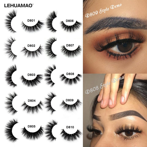 Eyelashes 3D Mink Lashes Thick HandMade