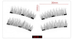 Magnetic eyelashes with 3 magnets