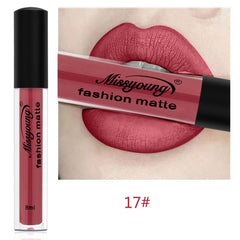 18 Color Waterproof Matte Lip Gloss Lipstick - Free + Shipping