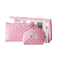 3Pcs/set Clear PVC Cosmetic Bags Women Travel Organizer