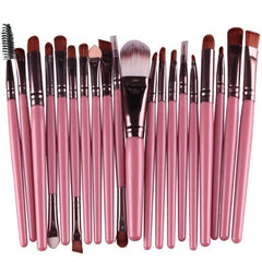 20Pcs Rose gold Makeup Brushes Set