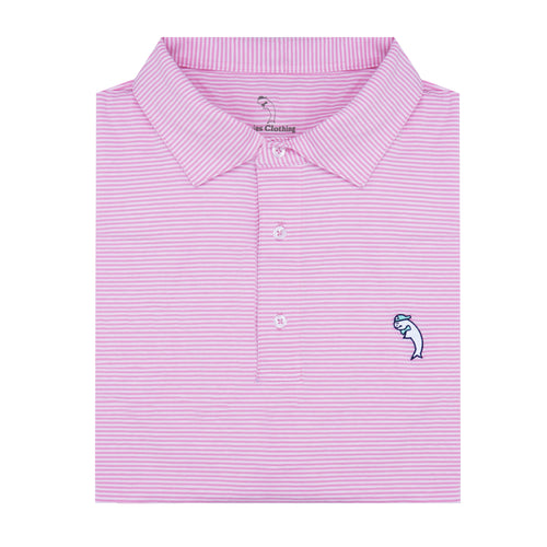 The Pink + White Performance Polo