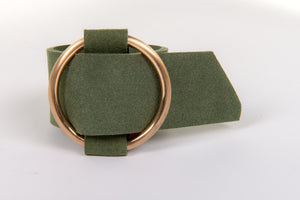 Ring Buckle Cuff in Olive