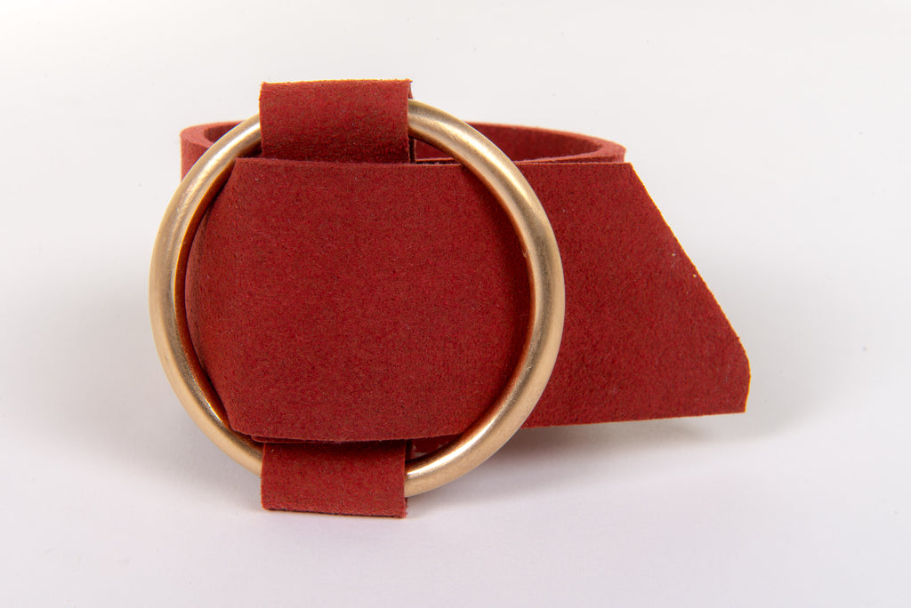 Ring Buckle Cuff in Russet