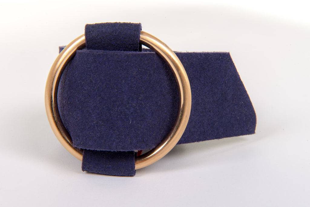Ring Buckle Cuff in Navy