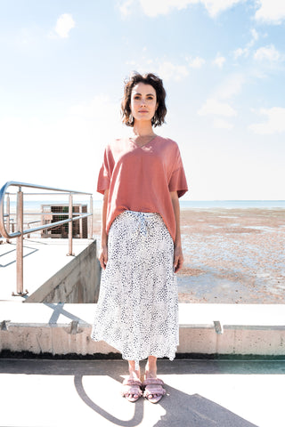 Tiqin Skirt in Dusted Chalk