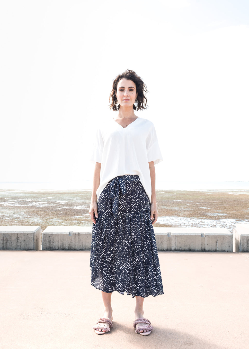 Tiqin Skirt in Dusted Ink