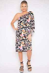 Short 4 Way Dress in Lady Leopard