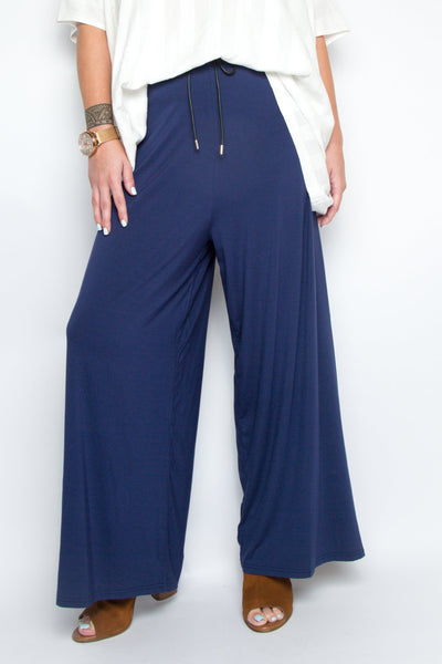 PREMIUM BAMBOO Wide Leg Pant in Navy