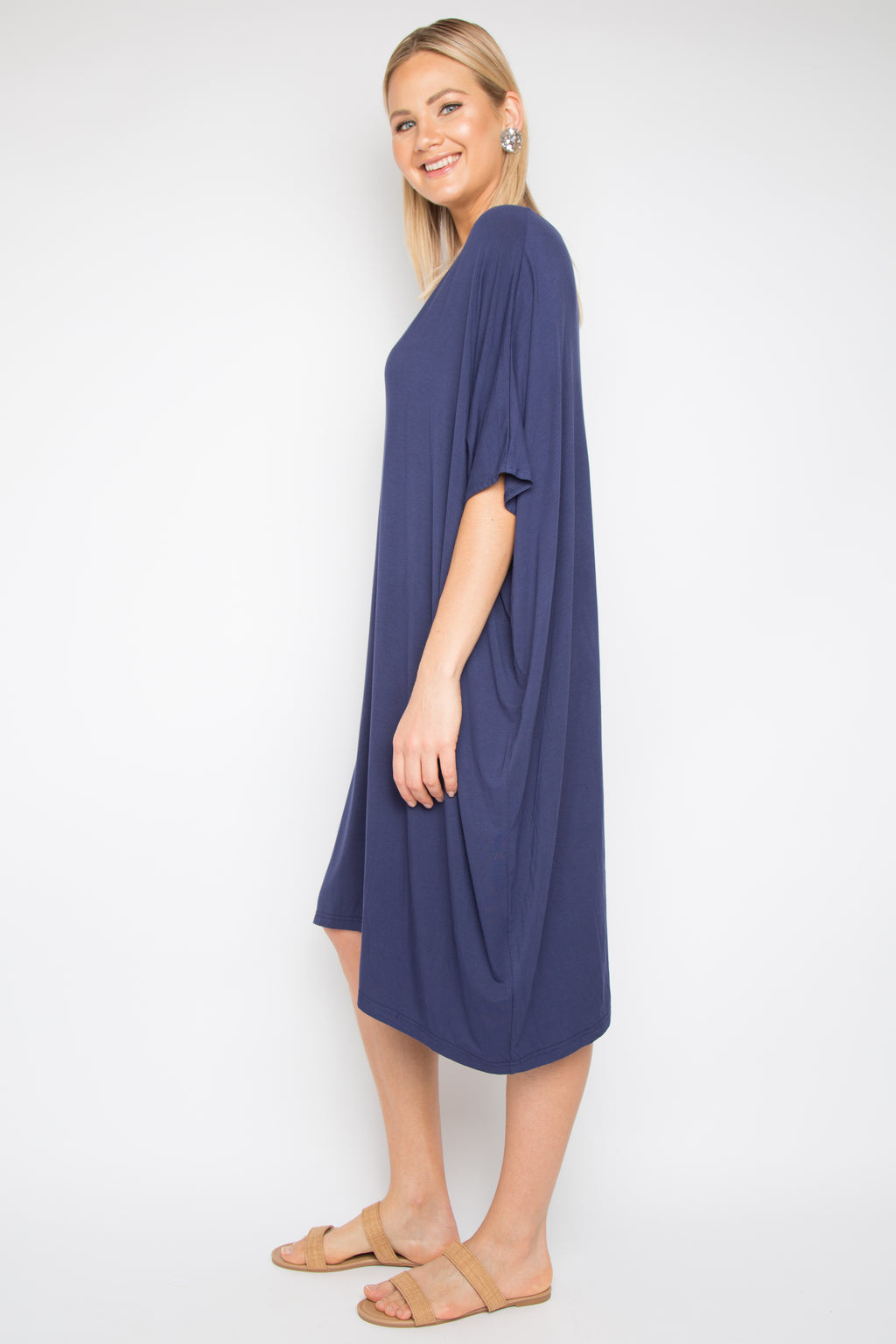 A Nice Dress in Navy (bamboo)