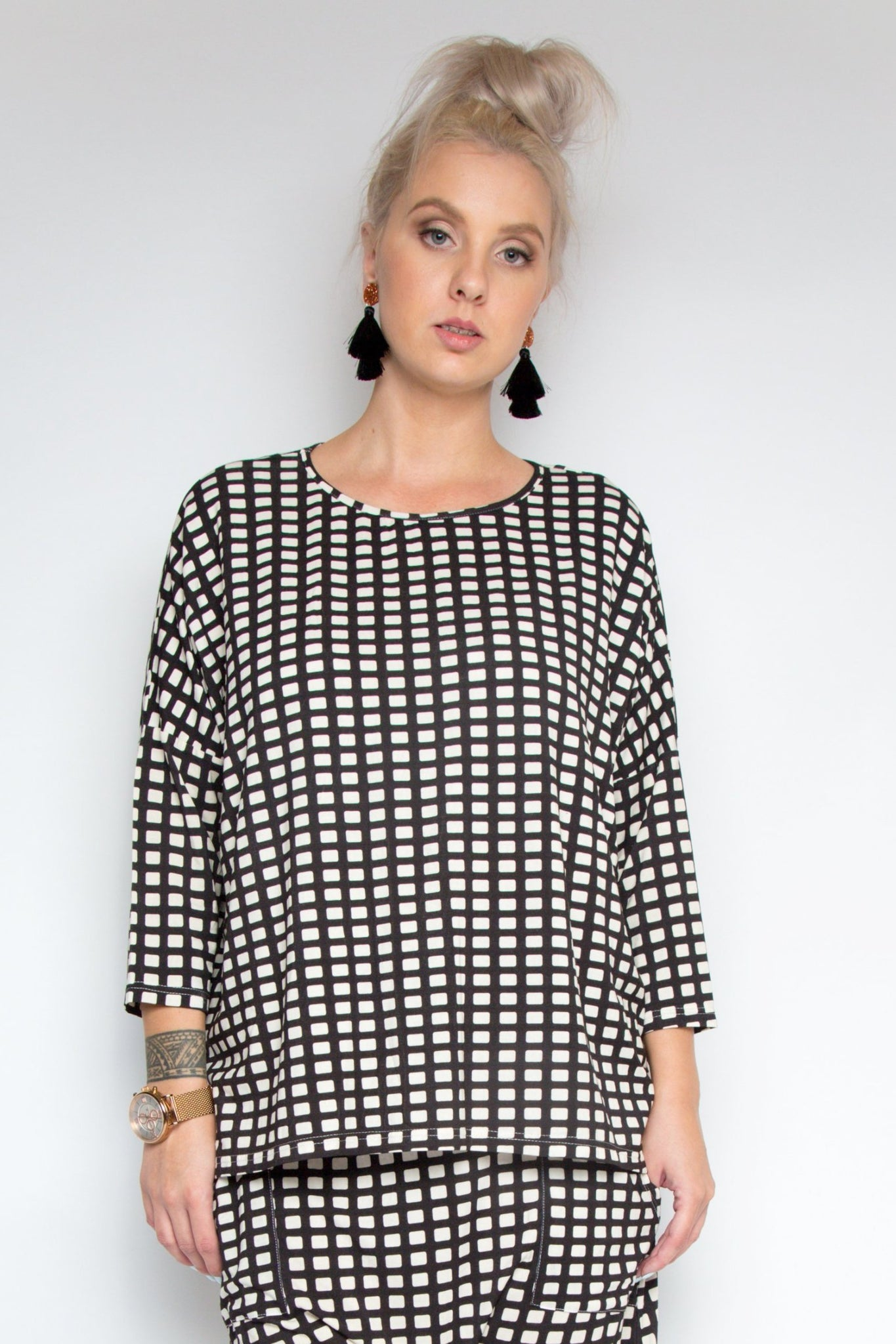 A Nice Little Top with Sleeves in Waffle