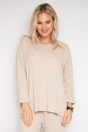 Long Sleeve A Nice Top in Vanilla Knit