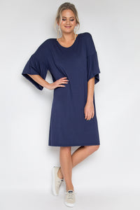 Ornate Dress in Navy (bamboo)