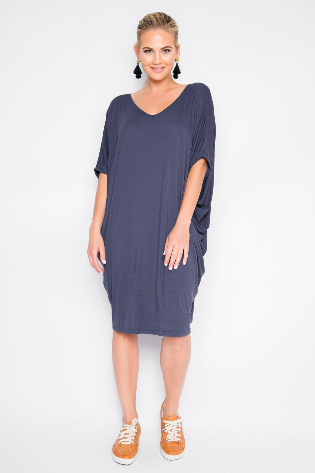 Original Miracle Dress in Navy (bamboo)