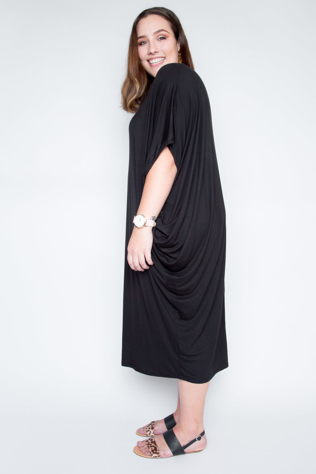 Curve Original Miracle Dress in Black (bamboo)