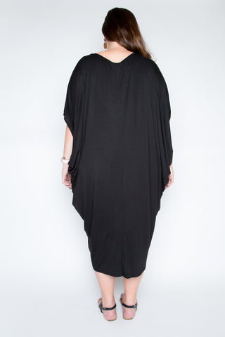 Bamboo Original Miracle Dress in Black ( CURVE )