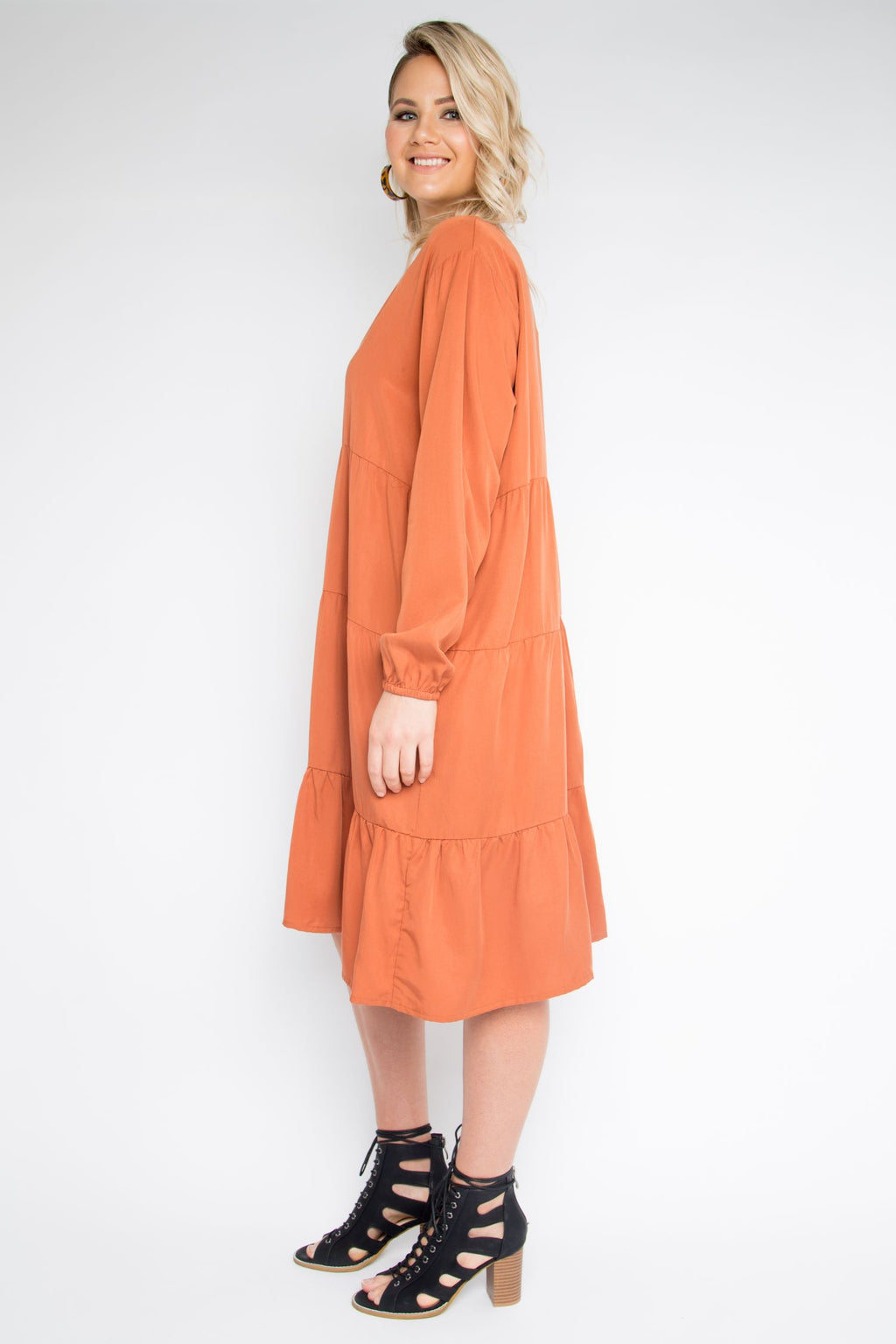 Chic Dress in Pumpkin Spice (Tencel)