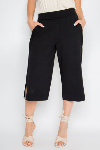 Classic Knit Culotte in Black