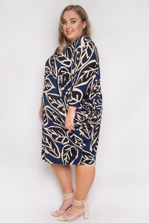 Curve Long Sleeve Miracle Dress in Loose Leaf