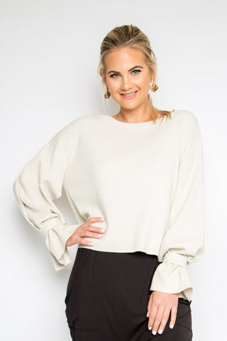 Cutting Edge Top in Oyster