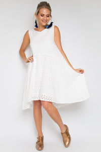 Enchant Dress in Pipped Anglaise