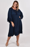 Flyaway Dress in Navy