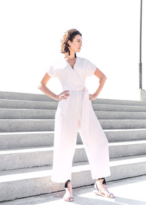Bawu Jumpsuit in Porcelain Pink
