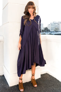 Original Peak Maxi Dress in Navy