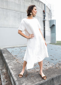 Sheng Dress in Chalk