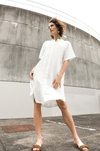 Sihu Dress in Chalk