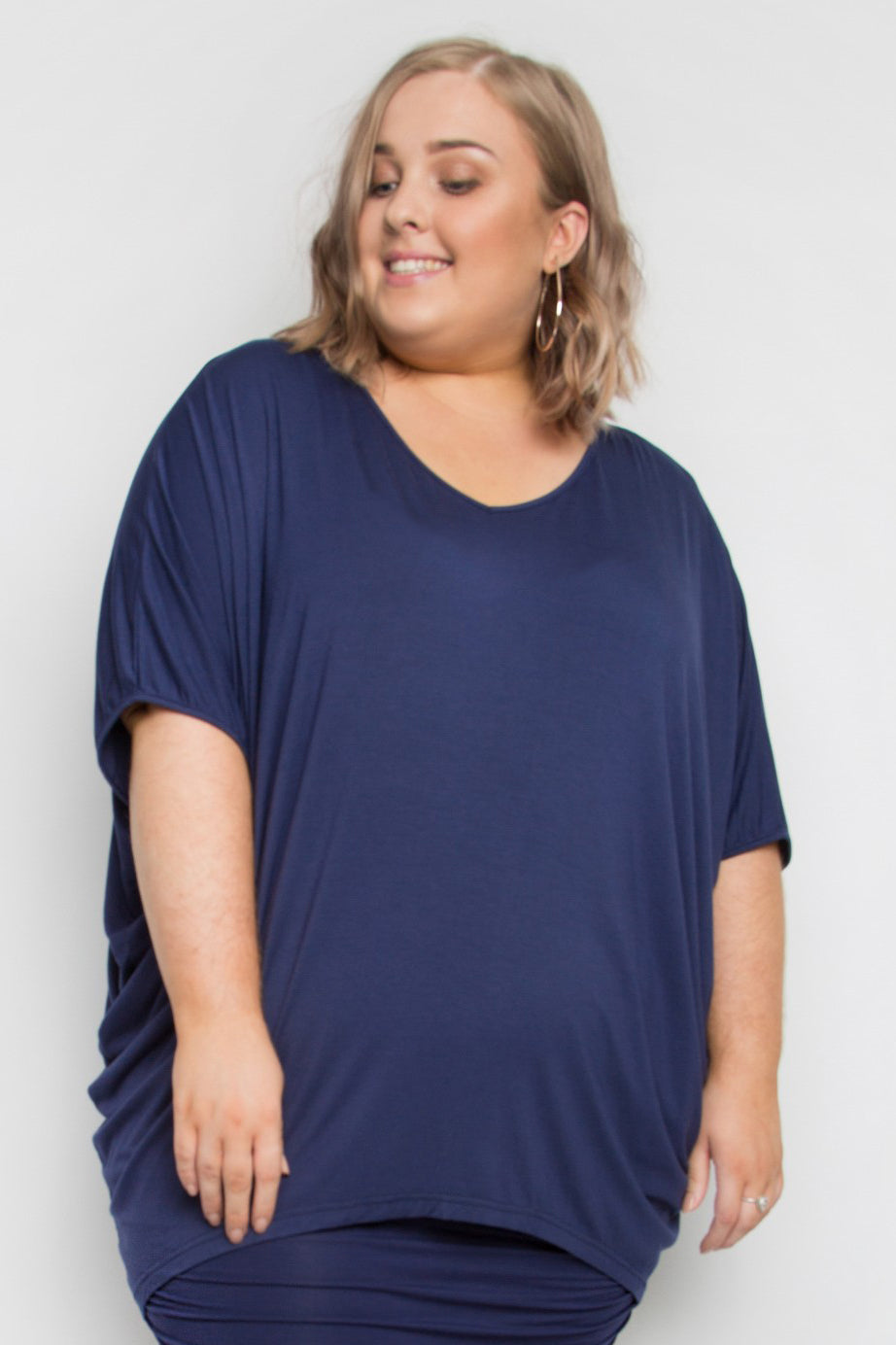 Curve Bamboo Hi Low Miracle Top in Navy