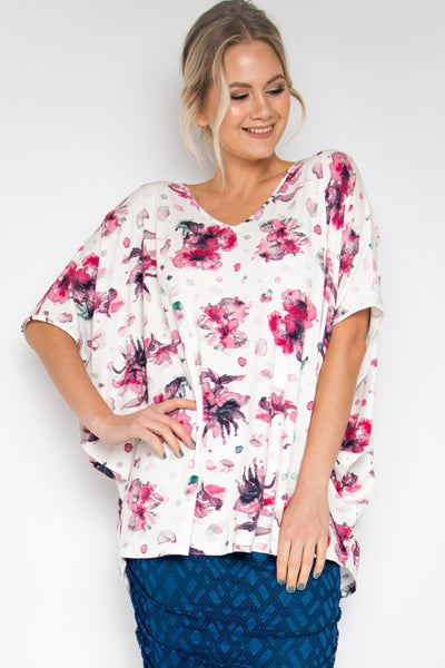 Hi Low Miracle Top in Azalea