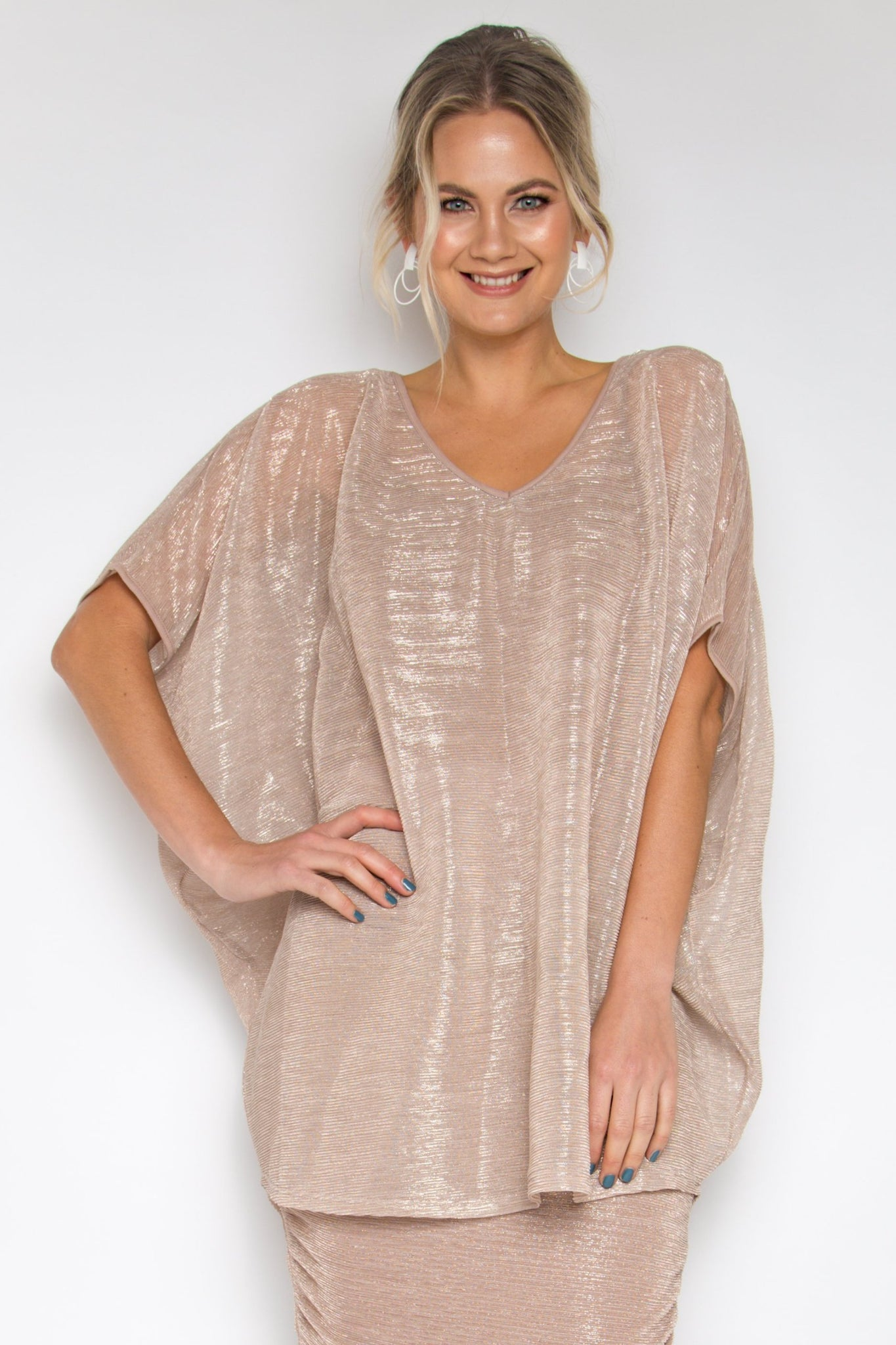 Hi Low Miracle Top in Mauve Mist (with bamboo slip top)