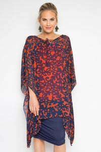 Keeper Kaftan + Bamboo Slip in Traced Floral