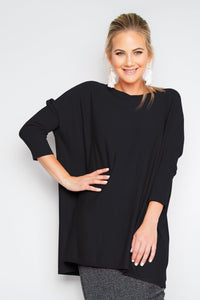 Lightweight Lounge Tunic in Black