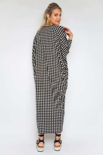 Long Sleeve Maxi Miracle Dress in Waffle