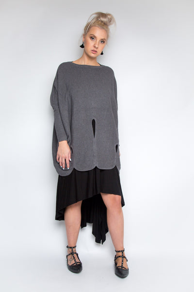 Luxe Layer Knit in Charcoal