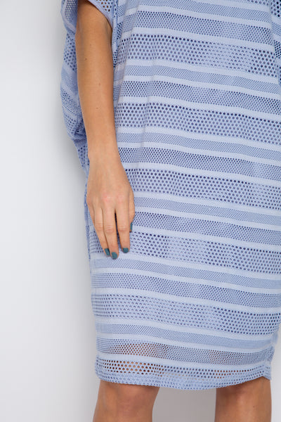 Mesh Miracle Dress in Lilac Stripe