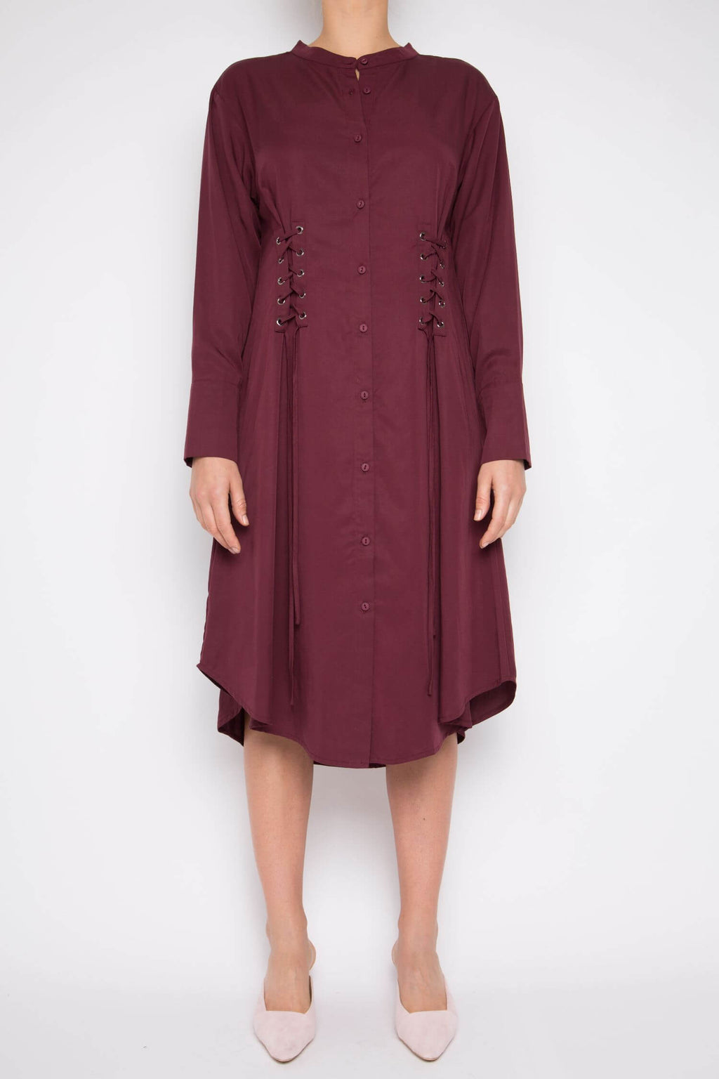 Muyu Dress in Rosewood