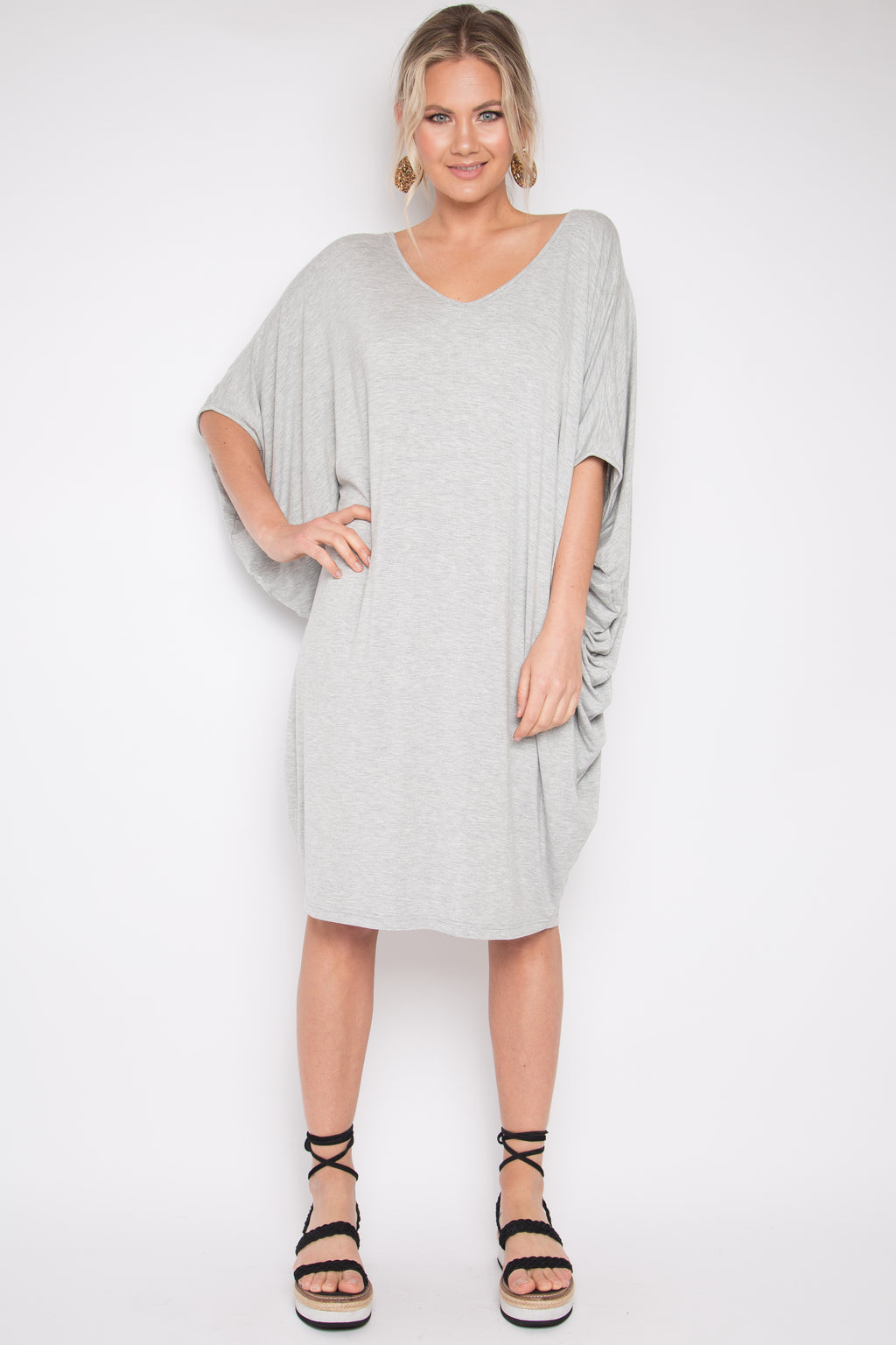 Original Miracle Dress in Marle Grey (bamboo)