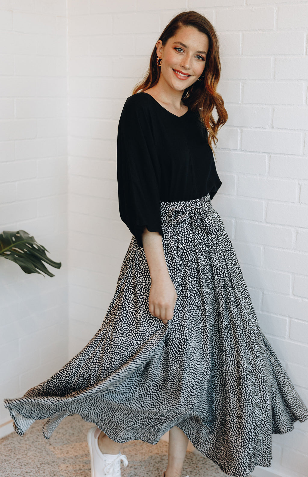 Twirl Tie Skirt in Vanilla Bean