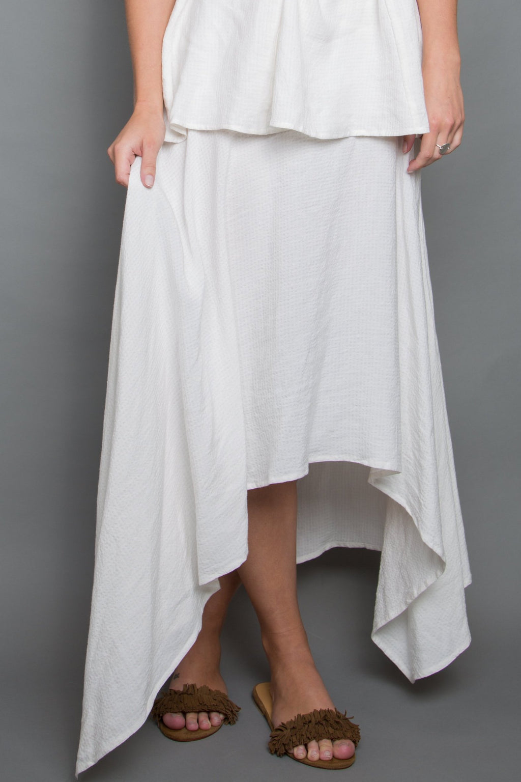On Time Skirt in White Gardenia