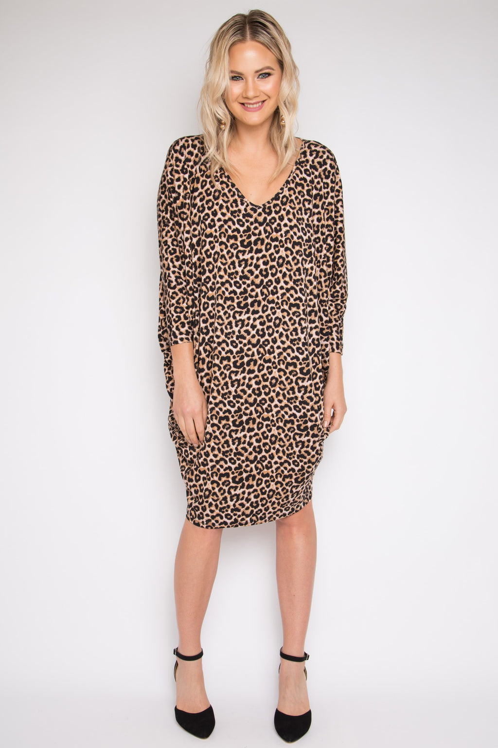 Long Sleeve Miracle Dress in Ginger Leopard