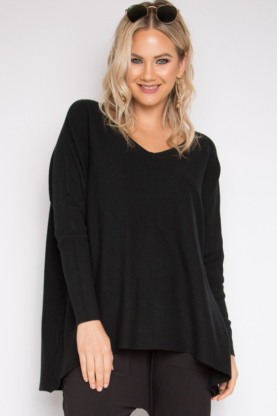 Everyday Knit Top in Black